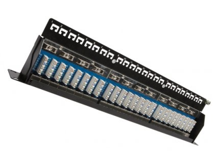 SOLARIX patch panel, CAT5E, 24 x  RJ45, STP, černý, 1U