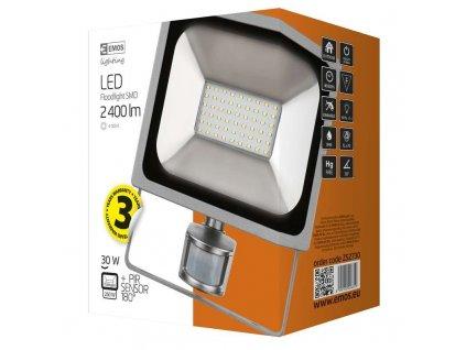 LED reflektor PROFI s pohybovým čidlem, 30W studená bílá