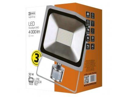 LED reflektor PROFI s pohybovým čidlem, 50W studená bílá
