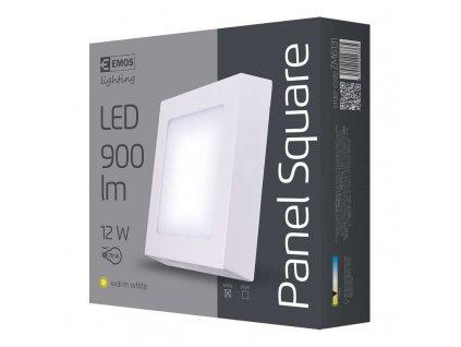 LED přisazené svítidlo, čtverec 12W teplá bílá