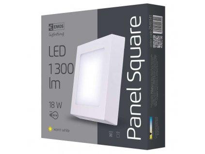 LED přisazené svítidlo, čtverec 18W teplá bílá