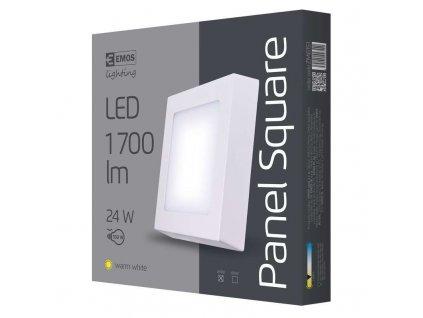 LED přisazené svítidlo, čtverec 24W teplá bílá