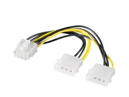 """Redukce napájecí 2x5.25"""" Molex - 8 pin pro PCI-E grafické karty"""