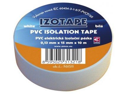 Izolační páska na kabely PVC 15/10 bílá