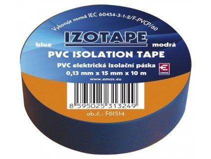 Izolační páska na kabely PVC 15/10 modrá