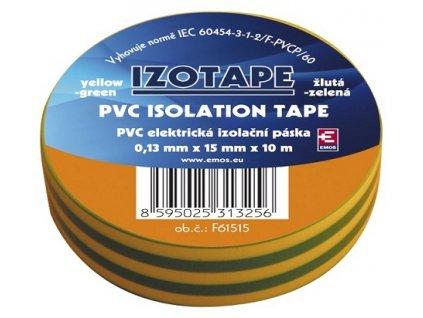 Izolační páska na kabely PVC 15/10 zeleno/žlutá
