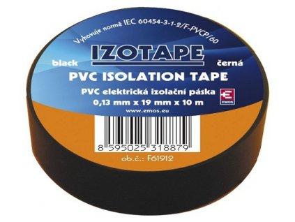 Izolační páska na kabely PVC 19/10 černá