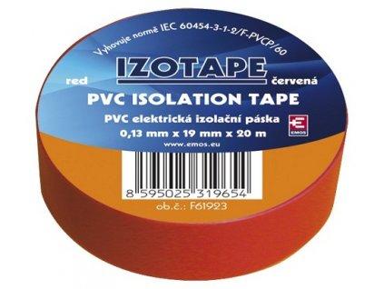Izolační páska na kabely PVC 19/20 červená