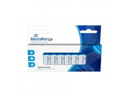 MediaRange Premium Alkalické baterie LR06 (AA, tužková) 1,5V blister 10ks/balení