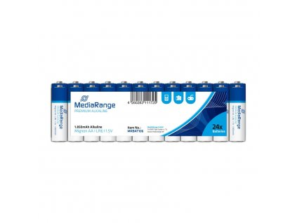 MediaRange Premium Alkalické baterie LR06 (AA, tužková) 1,5V blister 24ks/balení