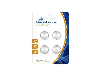 MediaRange Premium Lithium baterie CR2032 3V blister 4ks/balení