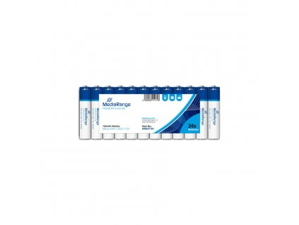 MediaRange Premium Alkalické baterie LR03 (AAA, mikrotužka) 1,5V blister 24ks/balení