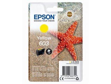 Epson 603 Yellow, žlutá - originální