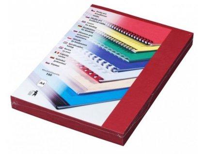 DELTA Karton, A4/100ks, tmavě červená