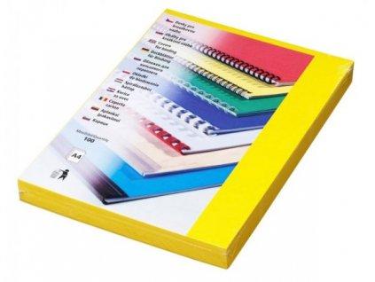 DELTA Karton, A4/100ks, žlutá