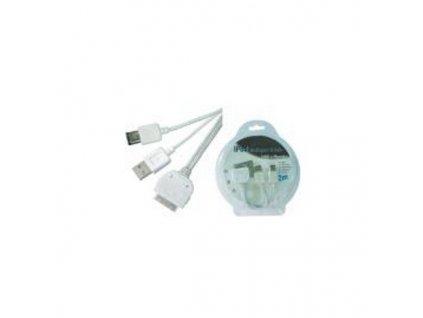 PremiumCord iPod na USB + FireWire kombo kabel 2m
