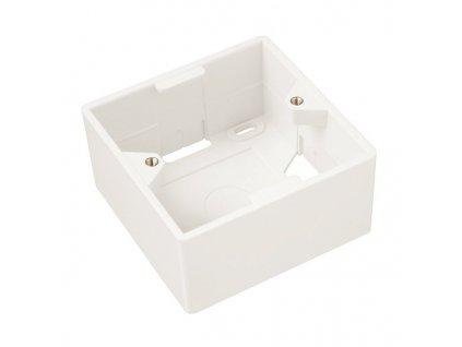 SOLARIX box na omítku, pro zásuvku SX9, bílý, 80 x 80 x 41mm