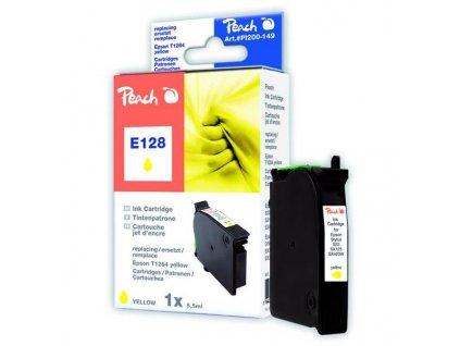 Peach E128 žlutá kompatibilní s Epson T1284