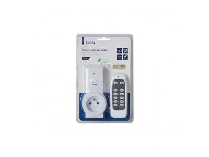 Dálkově ovládaná bezdrátová zásuvka Geti sada 1+1 (3680W/16A)