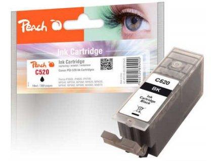 Peach C520 černá kompatibilní s Canon PGI-520, PGI-520bk, 2932B001