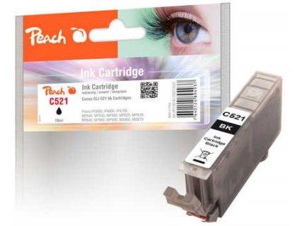 Peach C521 černá kompatibilní s Canon CLI-521bk, 2933B001