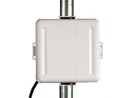 Jirous JPA-9P/3, WiFi panelová anténa, plastové uchycení, délka kabelu 3m 2,4GHz RP-SMA 9dBi