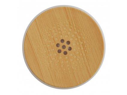 Airbi aroma difuzér s možností osvětlení LOTUS - světlé dřevo