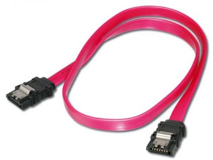 PremiumCord datový kabel SATA 150/300 s kovovou západkou 0,5m