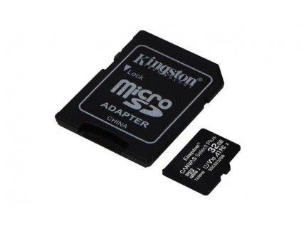 KINGSTON micro SDHC 32GB Canvas Select Plus A1 C10 Card (rychlost až 100 MB/s) + SD adaptér
