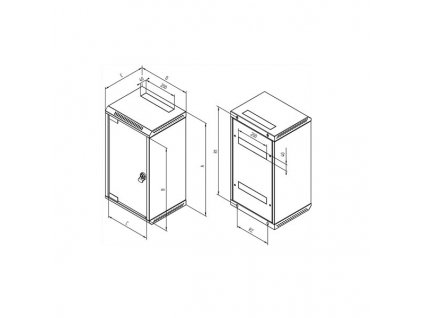 """TRITON 19""""/10"""" rozvaděč RKA-AS4 5U/10U / 360mm (sklo) šedý"""