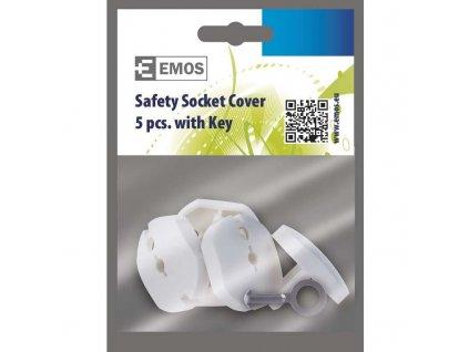 Záslepka do zásuvky bezpečnostní 5ks + klíč