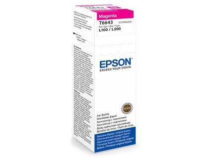 Epson T6643 Magenta, purpurová