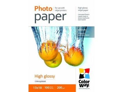 ColorWay fotopapír/ high glossy 200g/m2, 13x18 / 100 ks