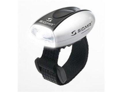 SIGMA světlo přední MICRO stříbrná / přední světlo LED-bílá
