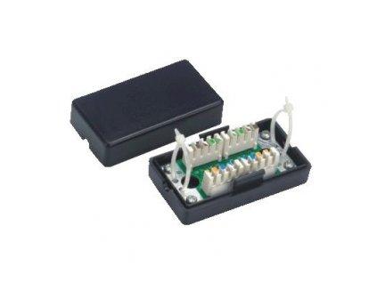 Spojovací BOX UTP Cat 5e. 2 x zářez. Pole