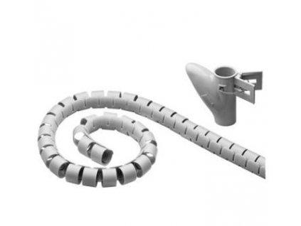 Souprava na svazování kabelů stříbrná - pořadač kabelů