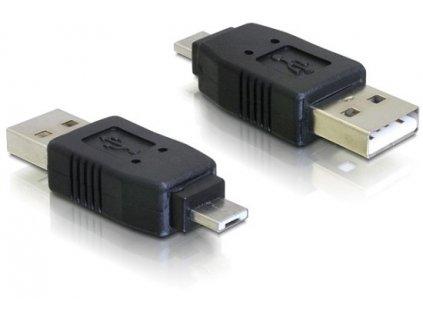 Delock micro USB A samec na USB A samec (65037)
