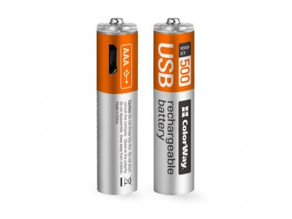 ColorWay nabíjecí baterie AAA USB 400mAh 2ks
