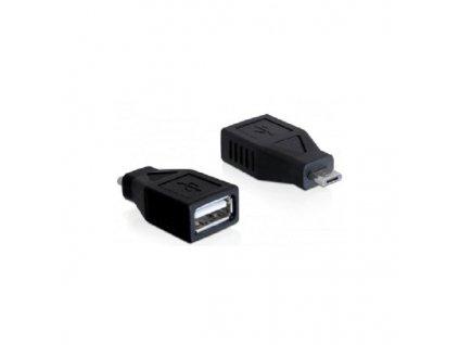 Delock micro USB B samec na USB A samice (65296)