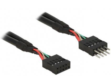 Delock USB 2.0 Pin konektor prodlužovací kabel 10 pin samec / samice 10 cm