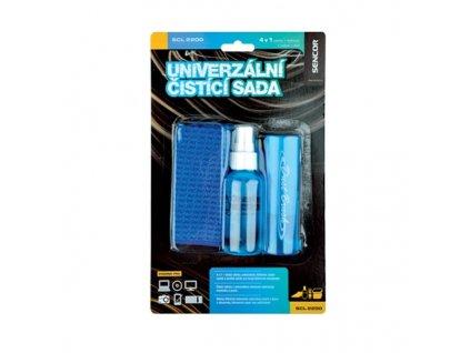 Sencor Univerzální čistící sada SCL 2200, 4 v 1 . čistící utěrka, antistatický štěteček, čistící roztok a sáček