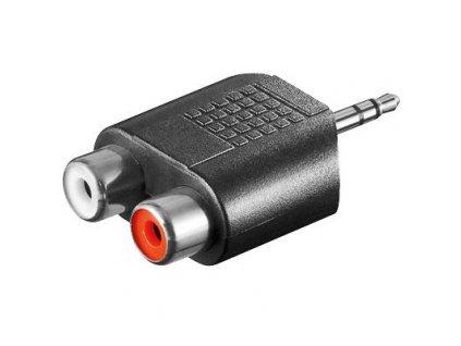 Adaptér stereojack 3.5 - 2x cinch M/F