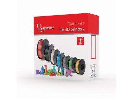 Gembird filament ABS 1.75mm 1kg, šedá