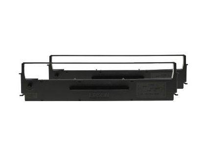 Epson nylonová barvicí páska černá C13S015647, dualpack