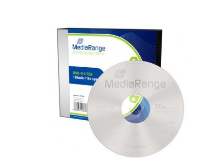 DVD-R MediaRange 4,7GB  16x slimcase (5pack)