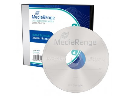 DVD+R MediaRange 8,5GB 8x Double Layer slimcase (5pack)
