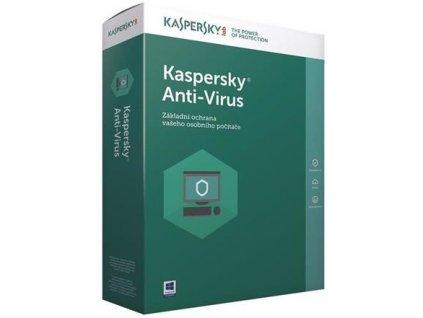 Kaspersky Anti-Virus 2019 CZ, 2 lic., 1 rok, nová licence, elektronicky