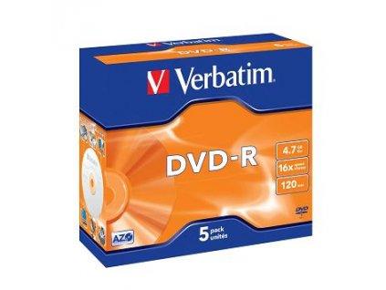 Verbatim DVD-R 4,7GB 16x Jewel (5-pack)