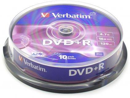 Verbatim DVD+R 4,7GB 16x SPINDL (10pack)