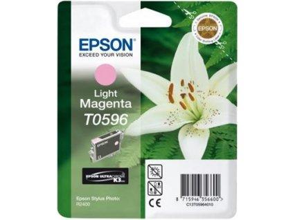 Epson T0596 Light Magenta Ultra Chroma K3 13ml pro Stylus Photo R2400 - originální